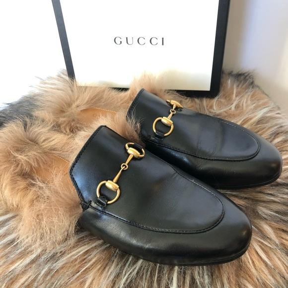 18c8e20fb Gucci Shoes - Gucci Princetown leather slipper 6.5 black